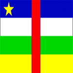 پرچم کشور جمهوری آفریقا مرکزی